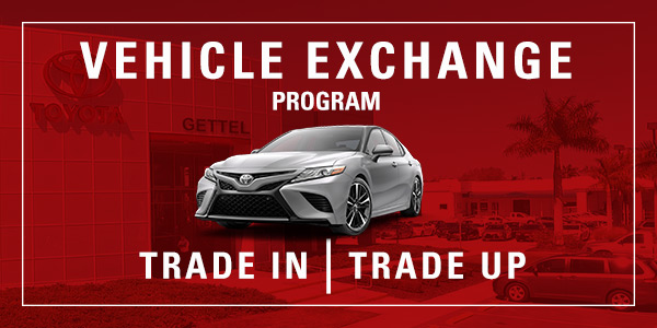 Learn more about our Vehicle Exchange Program, available in Sarasota, FL, at Gettel Nissan, near Venice, Port Charlotte and Bradenton.