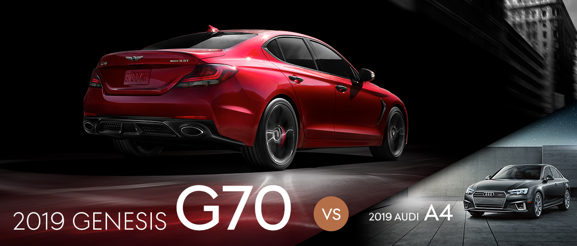 2019 Genesis G70 vs. 2019 Audi A4 in Kennesaw, GA