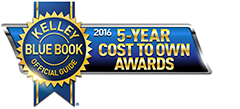 kelly blue book 2016 5-year cost to own awards