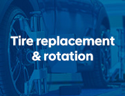 Tire replacement and rotation