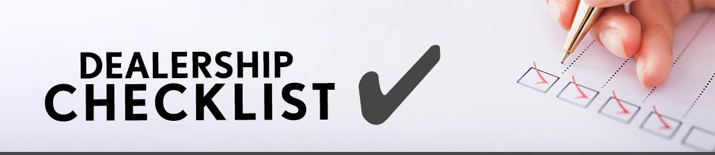 Dealership Checklist