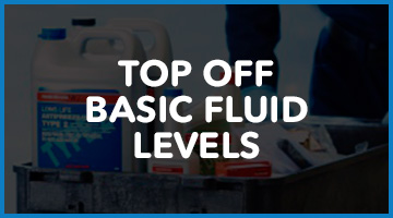 Top off basic fluid levels