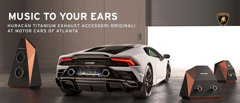 Music to your ears. Huracan titanium exhaust accessori originali at motorcars of atlanta