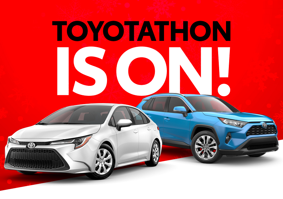 Save big during the Toyotathon Sales Event from 11/14 through 01/06!