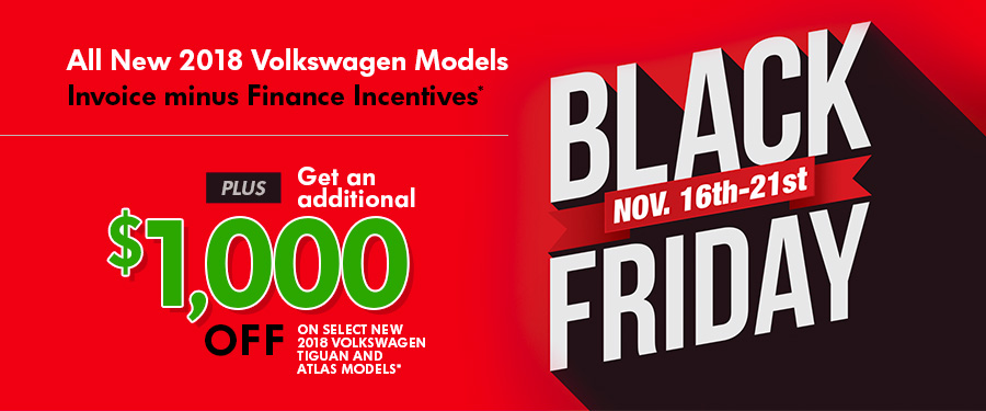 03e33f215c6 Black Friday has arrived early at Steve White Volkswagen! All remaining New  2018 Volkswagen models have savings you ll love