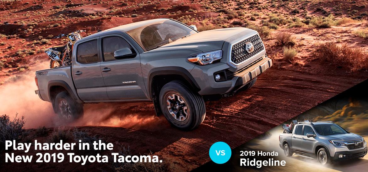 2019 Toyota Tacoma vs. 2019 Honda Ridgeline in York, PA