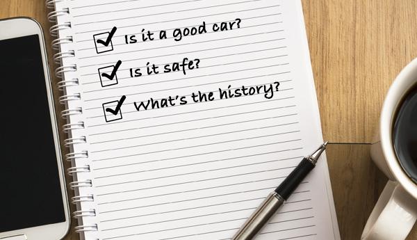 Used Car Buyer's Checklist