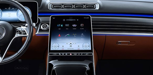 image of S-Class interior featuring technology