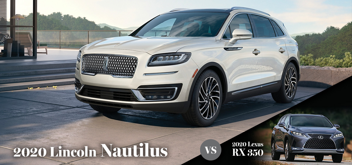 2020 Lincoln Nautilus vs. 2020 Lexus RX 350 in Alpharetta, GA