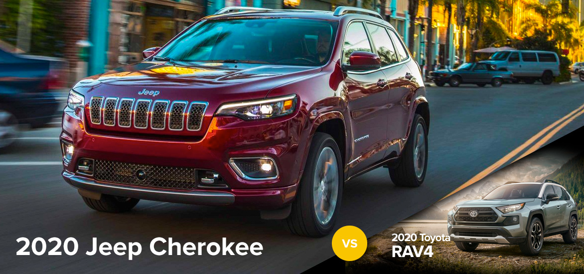 2020 Jeep Cherokee vs. 2020 Toyota RAV4 in Clinton, SC