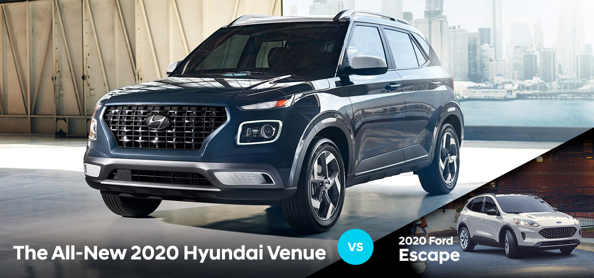 2020 Hyundai Venue vs. 2020 Ford Escape in Sarasota, FL