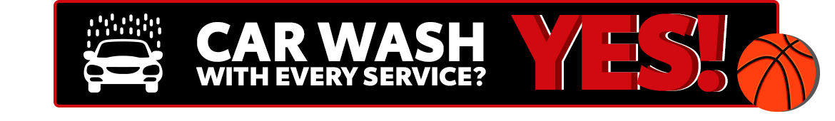 Car Wash with Every Service? YES!