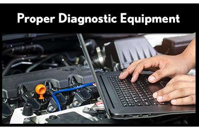 Proper Diagnostic Equipment