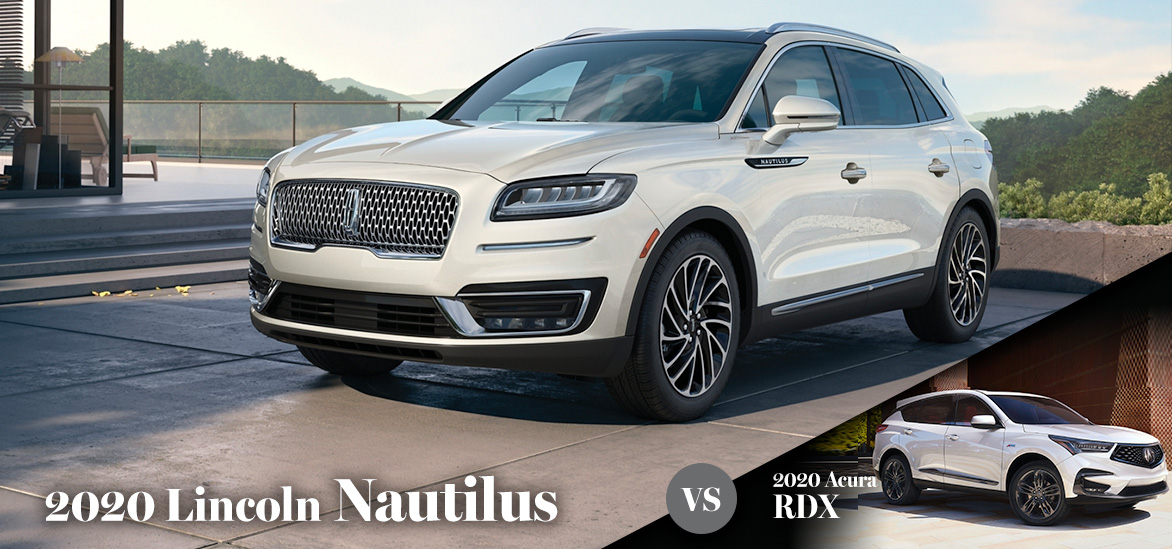 2020 Lincoln Nautilus vs. 2020 Acura RDX in Gainesville, FL