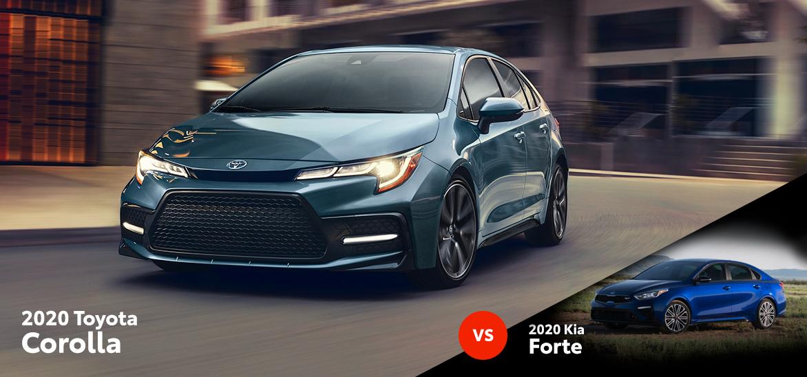 2020 Toyota Corolla vs. 2020 Kia Forte in Lansing, MI