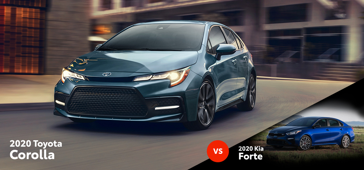 2020 Toyota Corolla vs. 2020 Kia Forte in Fort Worth, TX