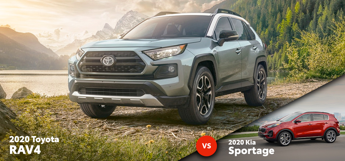 2020 Toyota RAV4 vs. 2020 Kia Sportage in Fort Worth, TX