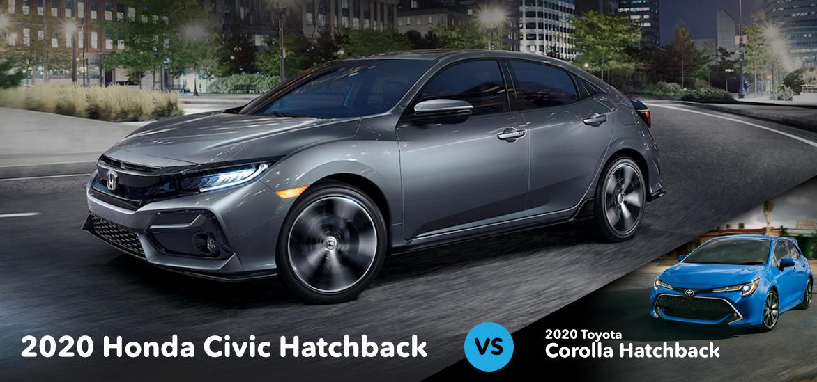 2020 Honda Civic Hatchback vs. 2020 Toyota Corolla Hatchback