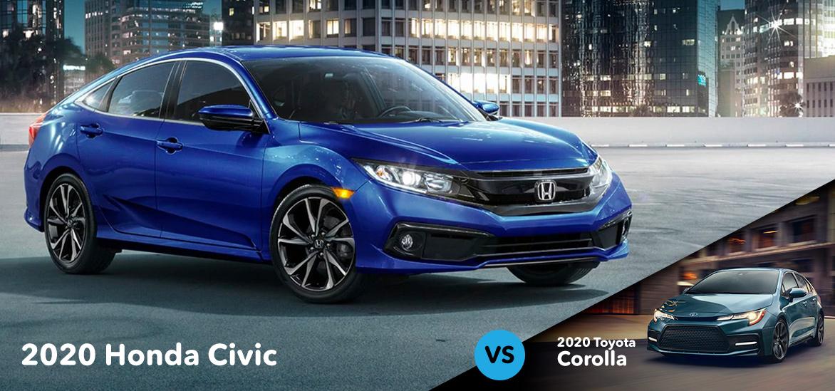 2020 Honda Civic vs. 2020 Toyota Corolla