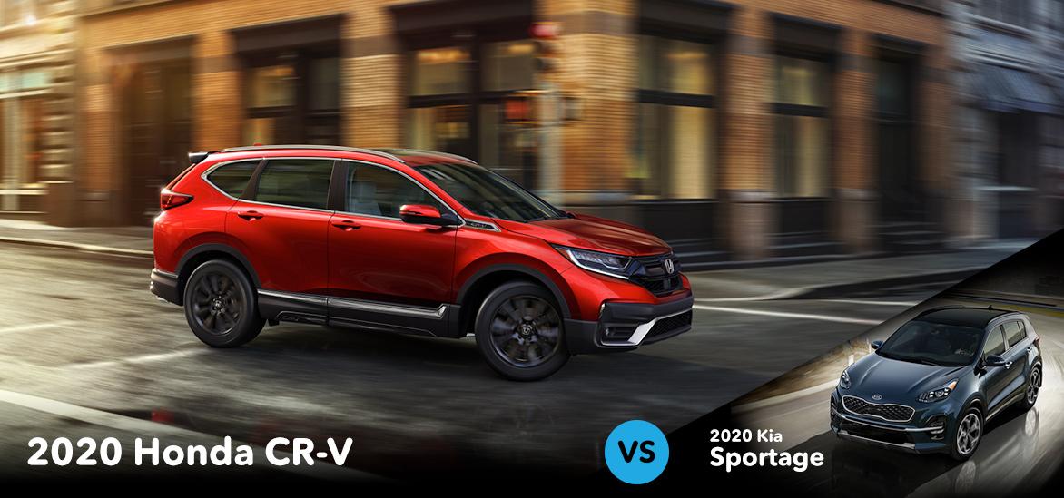 2020 Honda CR-V vs. 2020 Kia Sportage in Vero Beach, FL