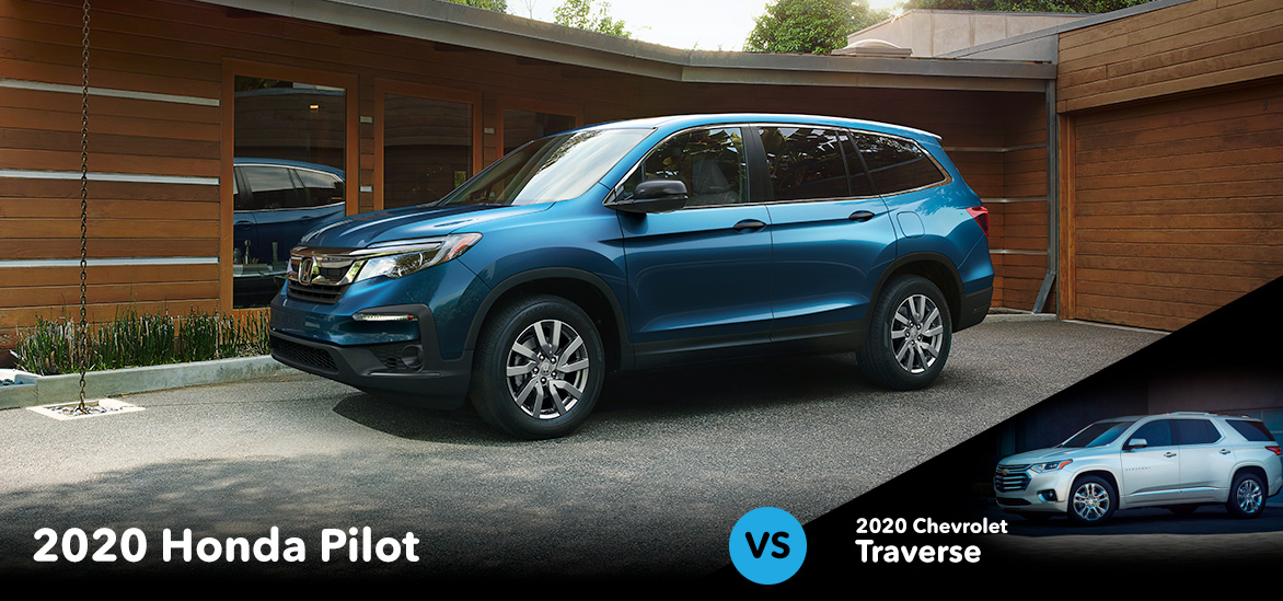 2020 Honda Pilot vs. 2020 Chevrolet Traverse in Vero Beach, FL