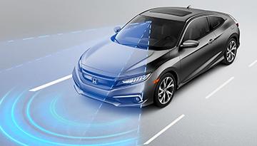2019 Honda Civic Coupe using radar or sonar