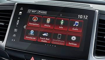 2019 Honda Ridgeline in dash screen